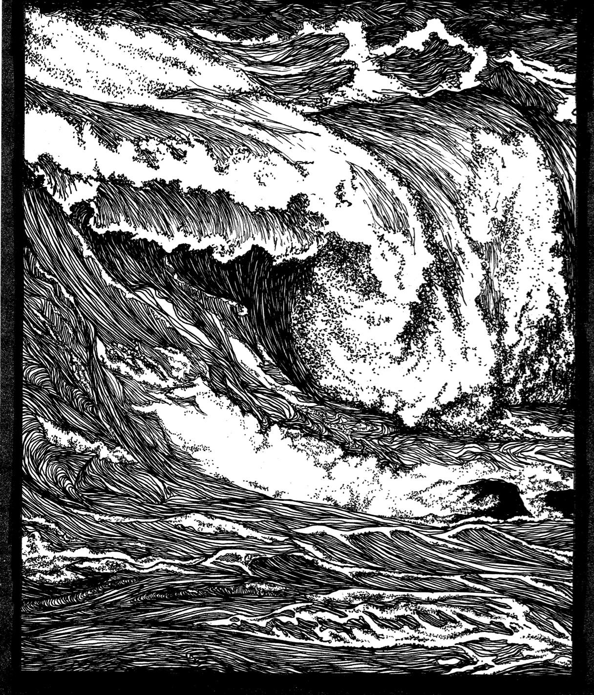 Ink Illustration: Ocean Illustrations