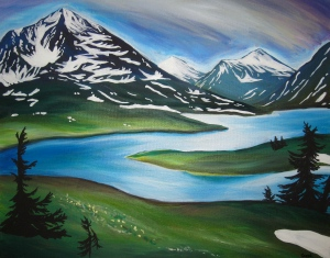 Lost Lake in Blue--one of my favorites, which I'm glad now belongs to a local Moose Pass artist.