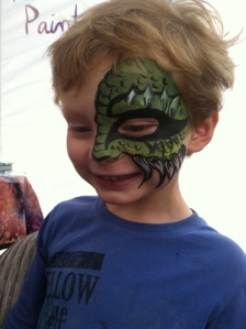 ...Face painting of a monster.