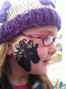 She wanted a black horse. I wanted to give it a gold mane. We were both happy.