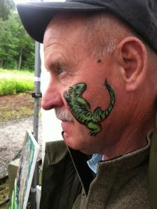 Iguana face paint!