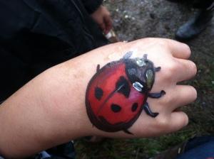 Ladybug. Hand painting!