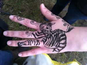 Zebra henna!