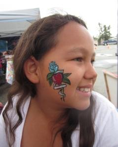 Face tattoo!