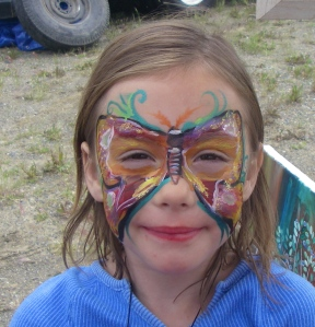 Face paint butterfly!