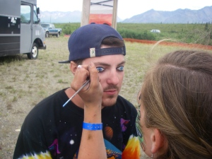 He asked for eyeballs on his eyelids.