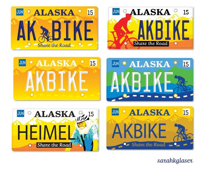 Alaska Share the Road License Plate, designed by Sarah K. Glaser