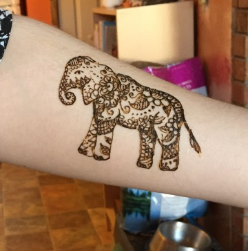 Sarah K Glaser elephant henna Anchorage Alaska