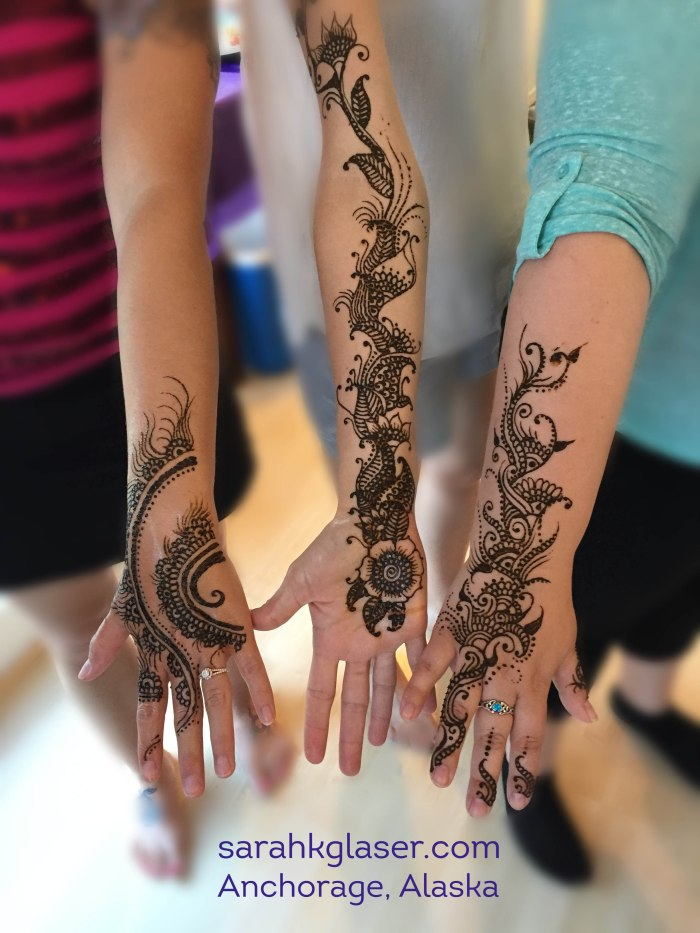Sarah K Glaser arm henna tattoo Alaska Anchorage