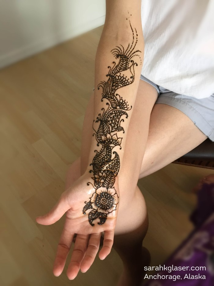 Arm henna