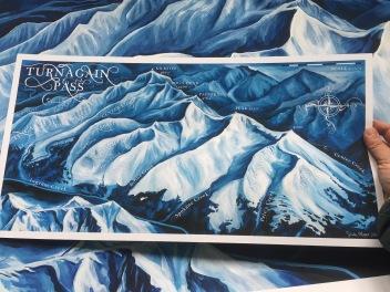 Map of Turnagain Pass, Alaska